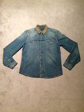 Allsaint'S Denim Camisa Tamaño Grande Muy Elegante RRP £ 89