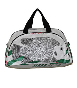 Recycled Fish Feed Deluxe Cabin Size Travel Bag Fair Trade from Cambodia