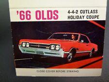 Automobile Dealership Dealer Advertising Matchbook Oldsmobile 1966 Cutlass 442