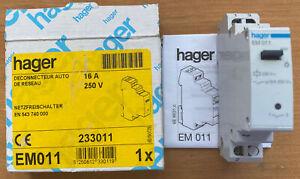 Hager EM 011 Netzfreischalter REG Feldfreischalter EM011 NEU und OVP