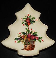 Lenox Holiday Tartan Candy Dish Christmas Tree Figure Dimension Collection