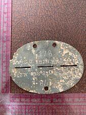More details for original ww2 german army soldiers dog tags - ers. ausb. btl m276