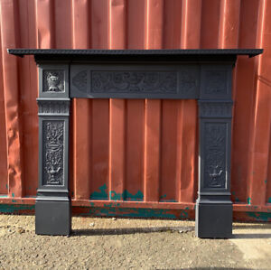 Victorian  cast iron fire Surround  Suit Woodburner 🚚DELIVERY FREE OR £35 Uk