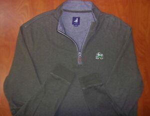 Johnnie-O Notre Dame Fighting Irish Cotton Blend 1/4 Zip Pullover Shirt XL ~NEW~