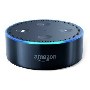 Echo Dot (2nd Generation) w/ Blue Dot Case - Smart speaker with Alexa - Black