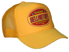 Hellmotors V8 Trucker Cap Hot Rod US Car Old School Bike Vintage Gelb Mütze Hut