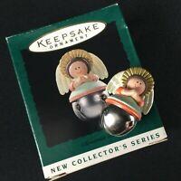 VTG 1995 Hallmark Miniature Bells Ornament Christmas Angel 1st in Series