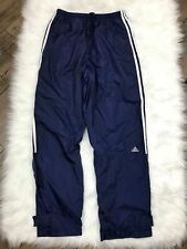 Adidas Blue Track Pants Bottoms Large Nylon Warmups Pant Active retro VIntage