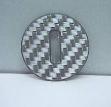 Smart fortwo 451 / 1 Stück echt Carbon Platte silberfarbig für das Zündschloss