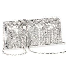 62dcfc0002f23 Shimmering Diamante Crystal Evening Clutch Purse Wedding Prom Women Bag  Silver