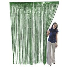 Green Metallic Fringe Door Curtain Party Decor 3' x 8'