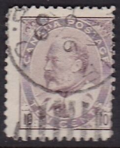 CANADA #93 USED UNHINGED 10c BROWN LILAC KING EDWARD VII