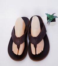 OluKai Nui Sandal Mens Flip Flop Espresso Leather Sandals US 12 EU 45