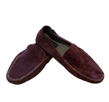 Peter Millar Collection Men's Cashmere Lined Suede Slipper Shoes Size 9.5 NEW
