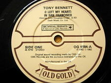 TONY BENNETT - (I LEFT MY HEART) IN SAN FRANCISCO / WHO CAN I TURN TO.....