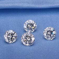 4 mm casi blanco 0.20 quilates redondo brillante corte de diamante Anillo Suelto Moissanita 4
