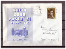 BRD, SoU Rhein Ruhr Posta '81 Wuppertal TSt + WSt Wuppertal 1981