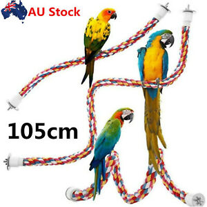 105cm Pet Bird Rope Perches Parrot Colorful Cage Comfy Perch Bungees for Bird AU