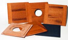 "1 Wooden Lens Board  4"" x 4"" for Deardorff  5"" x 7"" made of Tigerwood #0, #1, #3"