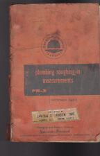 Plumbing Roughing-In Measurements Pr-3 American Radiator & Standard Sanitary