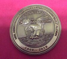 NASA APOLLO 11 50TH ANNIVERSARY 1969 - 2019 COMMEMORATIVE COIN W/ DISPLAY CASE