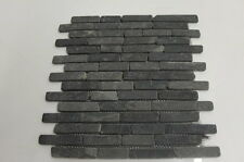 Sample  Black  Brickbone Basalt Stone wall  floor tiles