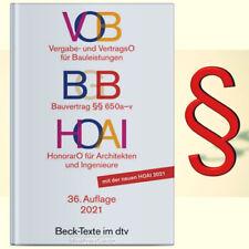 VOB BGB HOAI - 2021 * Taschenbuch Neu