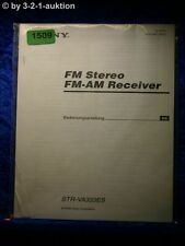 Sony Bedienungsanleitung STR V333ES FM/AM Receiver (#1509)
