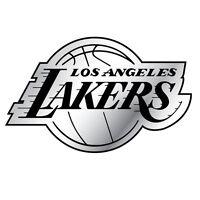 LOS ANGELES LAKERS CAR AUTO 3-D CHROME SILVER TEAM LOGO EMBLEM NBA BASKETBALL