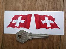Swiss National Flag Wavy 2 in stickers SWITZERLAND