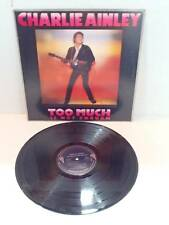 1978 Charlie Ainley Too Much Is Not Enough Record Vinyl LP Album Promotional