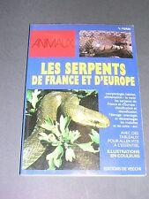Herpétologie serpents de France et d'Europe manuel illustré Ferri 1994