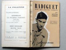 Raymond RADIGUET Textes inédits K. GOESCH La Palatine COCTEAU Max Jacob Massis