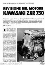 Guida alla revisione del motore Kawasaki ZXR 750 in ITALIANO