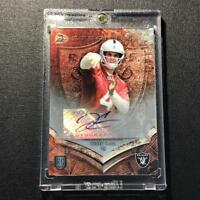 DEREK CARR 2014 BOWMAN STERLING #BSA-DC AUTOGRAPH AUTO ROOKIE RC 17/99 RAIDERS