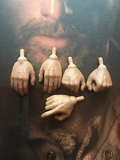 ThreeZero The Walking Dead TWD Rick Grimes Hands x 5 loose 1/6th scale