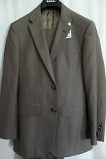 NWT Brooks Brothers 1818 Milano Brown Houndstooth Suit 36S Retail $698