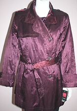 NWT GALLERY Woman Purple Wine Color Coat Plus Size 1X