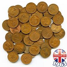 More details for (x50) 1963 british bronze elizabeth ii halfpenny ½d coins