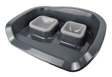 Futterstation / Hundenäpfe oder Katzennäpfe - easy clean (Farbe: Grau)