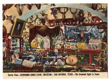 "mini postcard Buckingham Curio Store(museum)San Antonio,TX""The Greatest Site TX"""