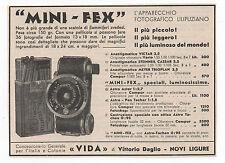 Pubblicità epoca 1933 MINI-FEX PHOTO FOTO ASTRO advert werbung publicitè reklame