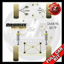 Saab 96 (60-79) Powerflex Black Complete Bush Kit