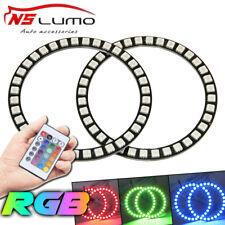 2X 100MM Multi-color RGB Remote kit 5050 Angel Eyes Halo Ring Bulb LED Headlight
