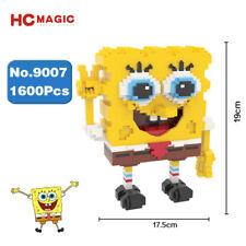 HC 9007 SpongeBob Squarepants Yellow Diamond Mini DIY Building Nano Blocks Toy
