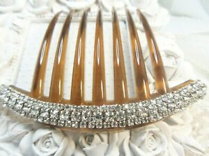 Pageant Hair combs Rhinestone hair combs Dance hair comb Side hair comb Comb Sparkling AB Clear Triple Row crystal side hair comb pair