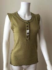 NWOT FREE PEOPLE Last Stop Tank Top Shirt Army Olive Green Size XS Extra Small