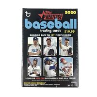 2020 Topps Heritage Baseball Blaster Box 72 Cards Factory Sealed Box Mike Trout