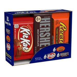 HERSHEY'S Chocolate Candy Bar Assorted Variety Box Pack of 1, Brown