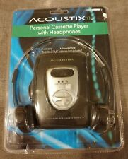 Acoustix Personal Cassette Player with Headphones-New in Box